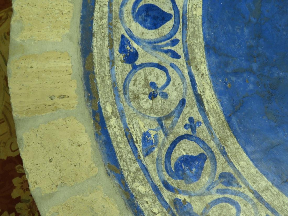 PAINTED STONE TILE TOP TABLE - 3