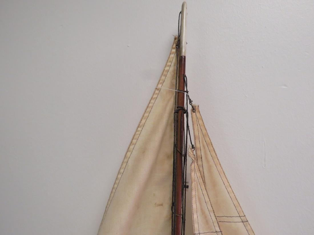 VINTAGE WOODEN MODEL SAILBOAT - 2