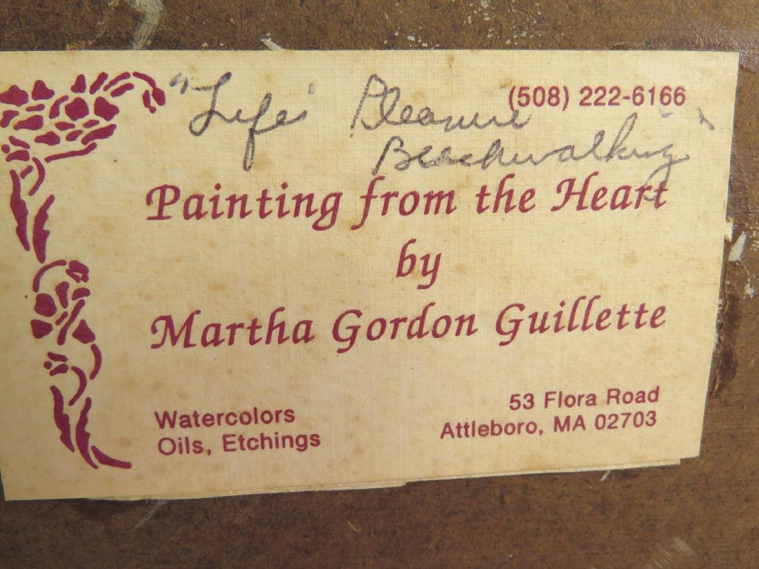 MARTHA GUILLETTE ORIGINAL OIL ON BOARD PAINTING - 8