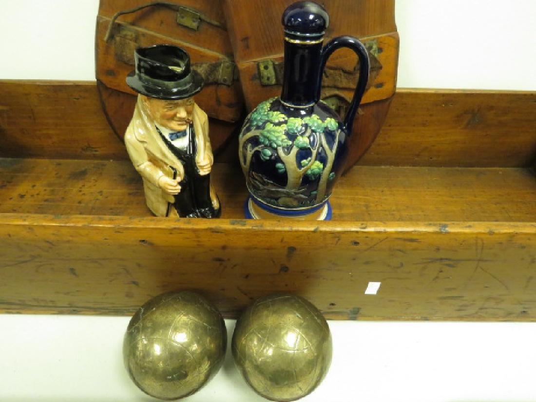 ASSORTED ESTATE LOT: WOOD, POTTERY, ETC. - 2