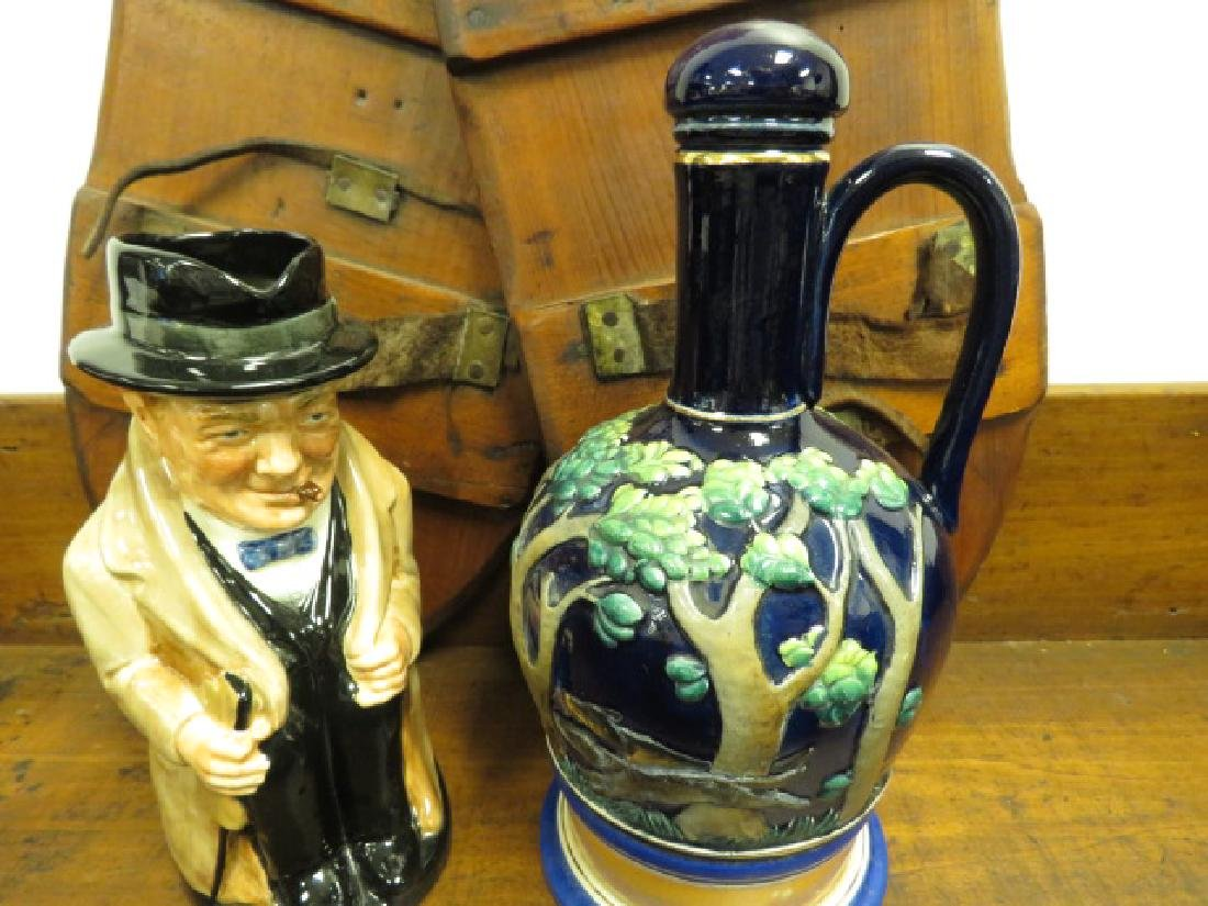 ASSORTED ESTATE LOT: WOOD, POTTERY, ETC. - 6