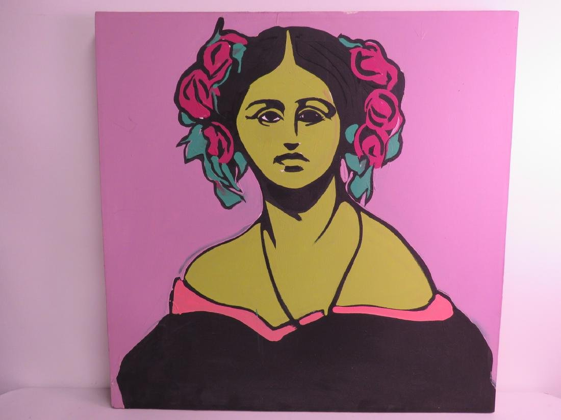 RICHARD HANNUM POP ART PORTRAIT PAINTING