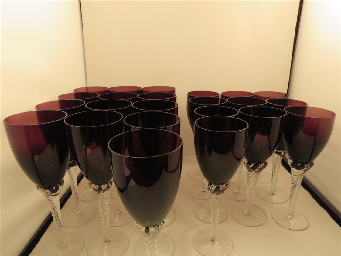 TWENTY-THREE VILLEROY & BOCH AMETHYST GLASS STEMS - 2