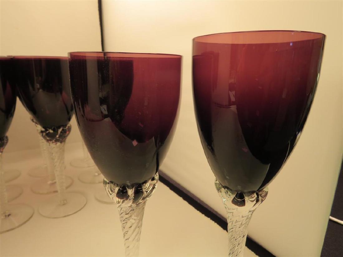 TWENTY-THREE VILLEROY & BOCH AMETHYST GLASS STEMS - 3