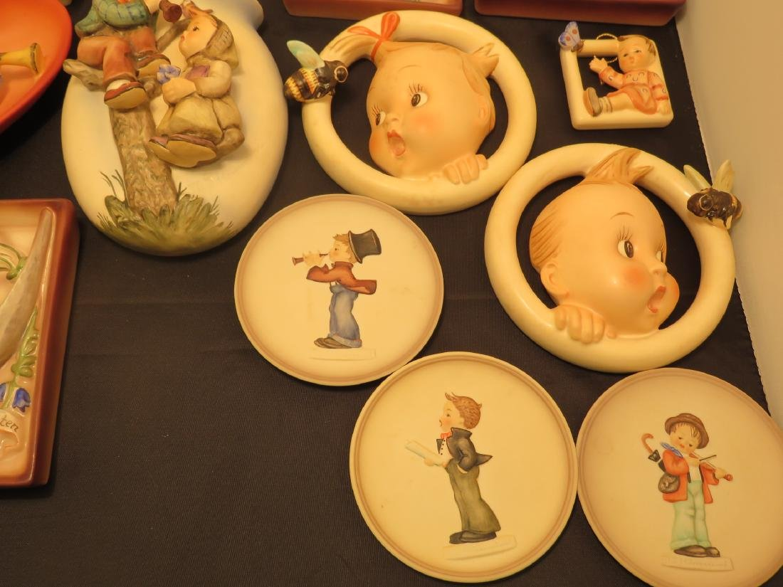 SIXTEEN ASSORTED GOEBEL HUMMEL WALL PLAQUES/POCKET - 2