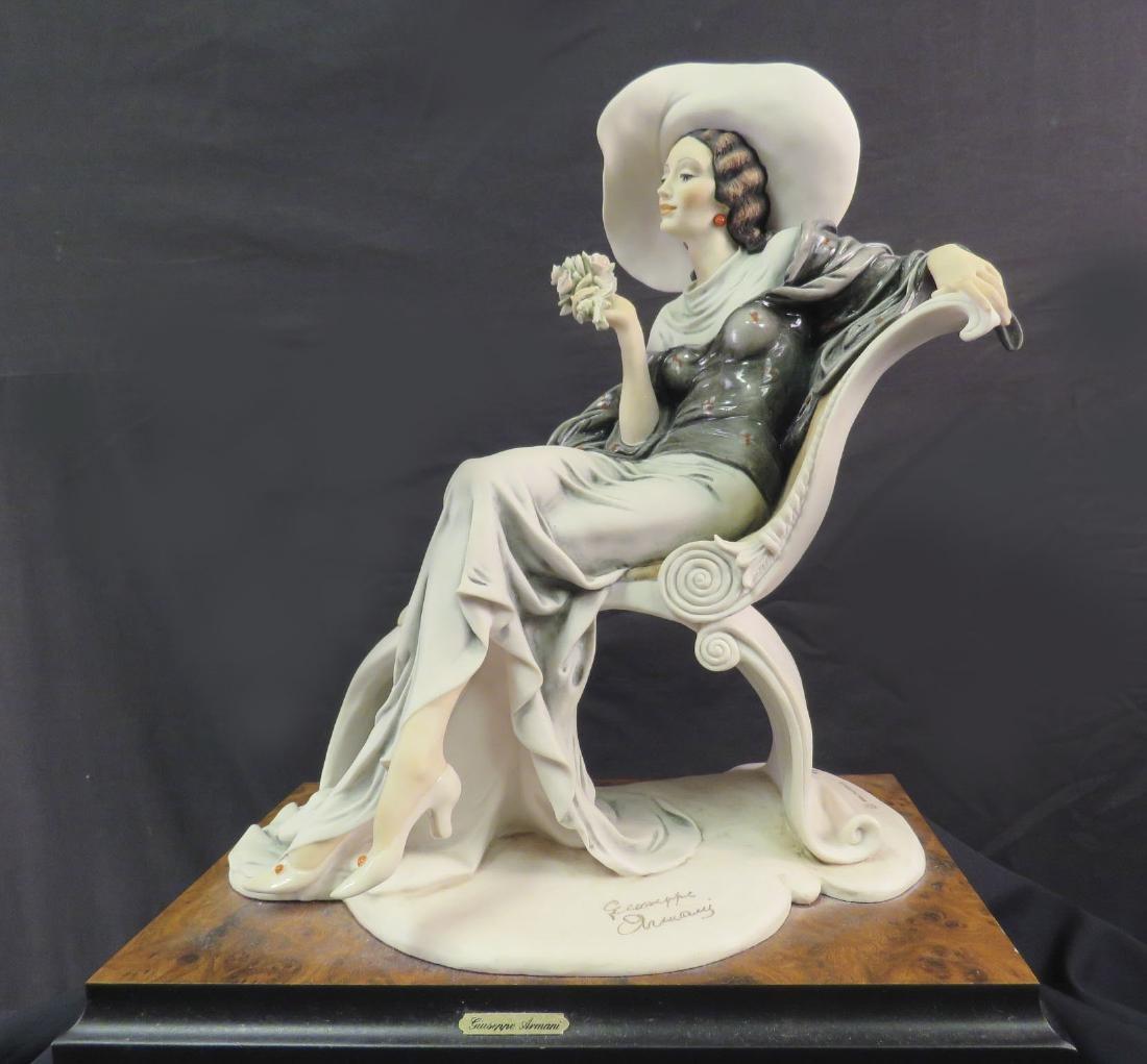 GIUSEPPE ARMANI FIGURINE: LADY ON CHAISE LOUNGE