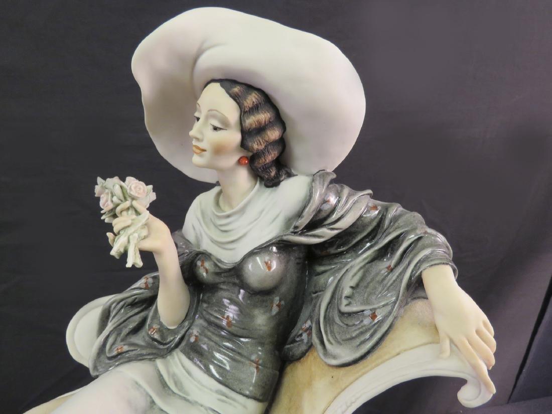 GIUSEPPE ARMANI FIGURINE: LADY ON CHAISE LOUNGE - 2