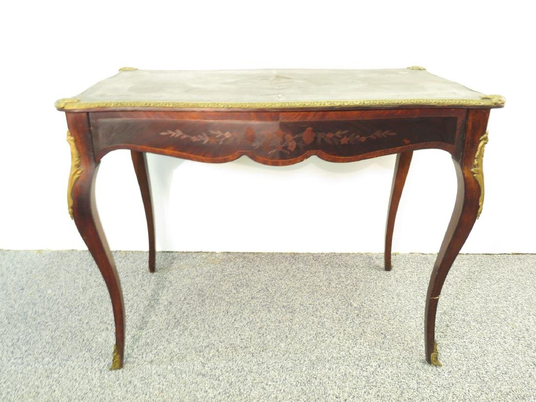 ANTIQUE PARQUETRY INLAID DESK OR VANITY TABLE