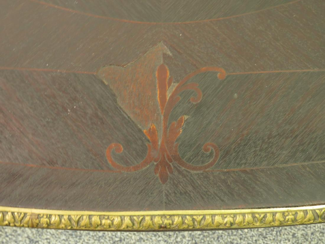 ANTIQUE PARQUETRY INLAID DESK OR VANITY TABLE - 5