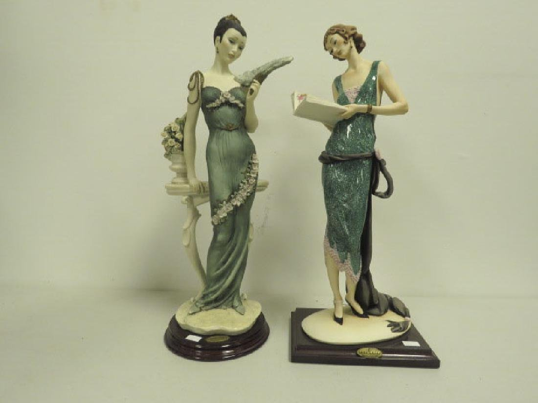 TWO GIUSEPPE ARMANI FLAPPER FIGURINES