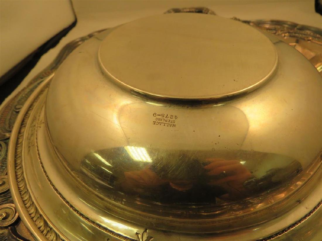 STERLING BOWL & THREE SILVER PLATED TRAYS - 3