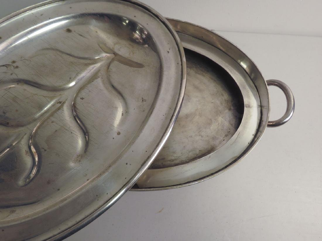 SILVER PLATED MEAT PLATTER & WARMING TRAY - 2