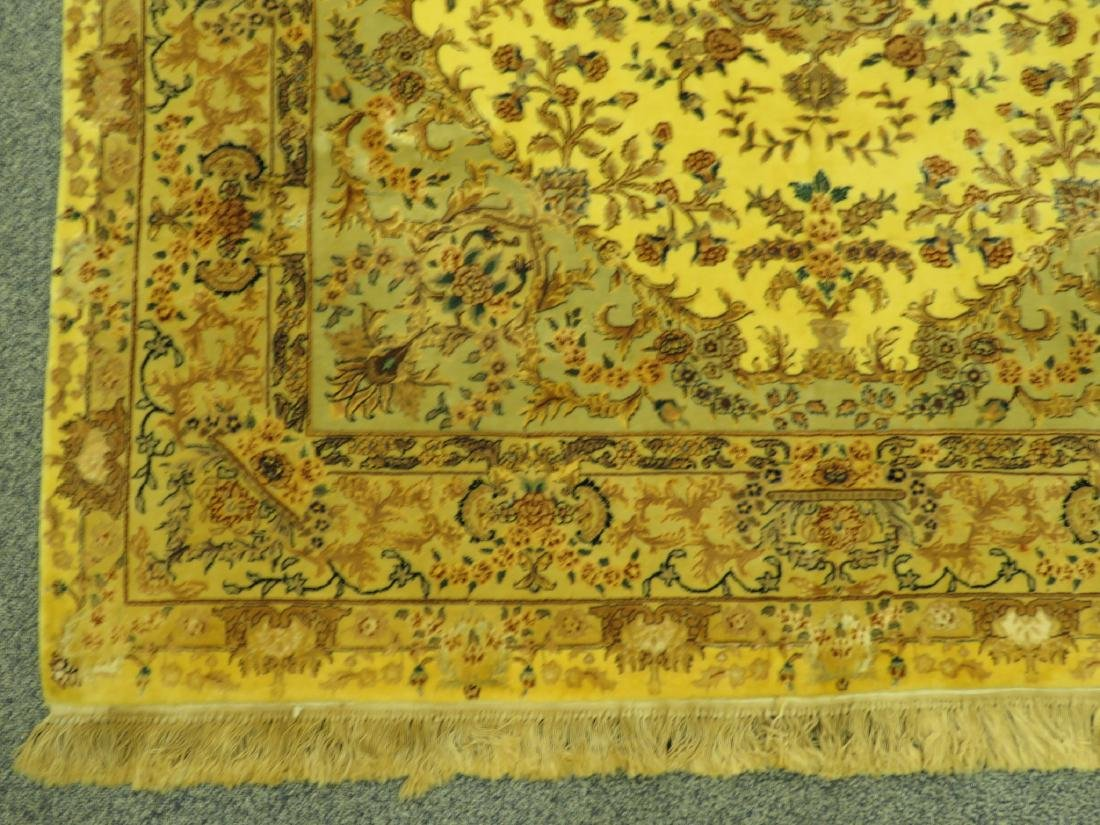 PERSIAN TABRIZ HAND KNOTTED WOOL & SILK RUG - 2
