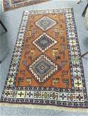 """PERSIAN HAND KNOTTED WOOL RUG - 3'6"""" x 6'4"""""""