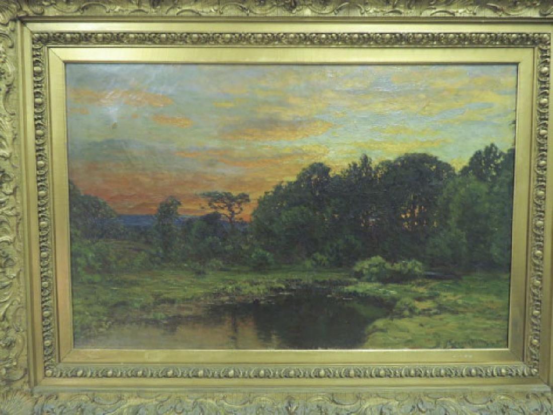 JOHN JOSEPH ENNEKING OIL ON CANVAS SUNSET
