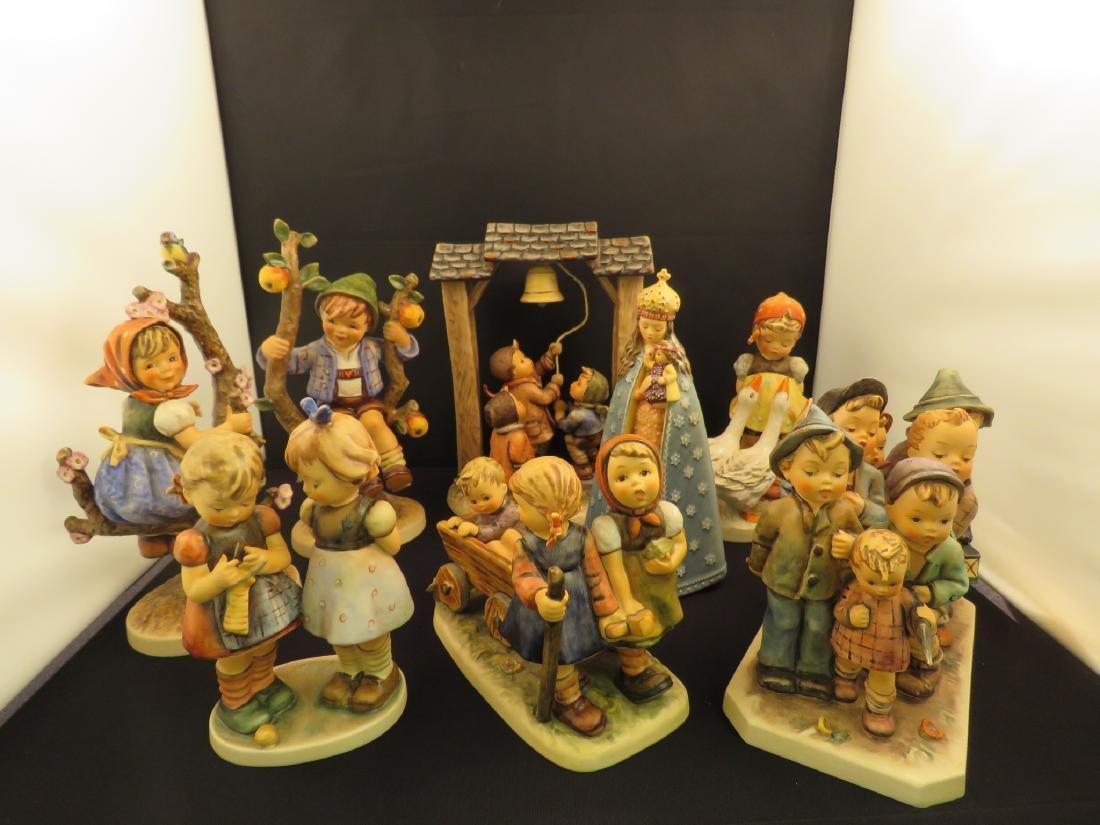 GROUP OF HUMMEL GERMAN PORCELAIN FIGURINES - 8