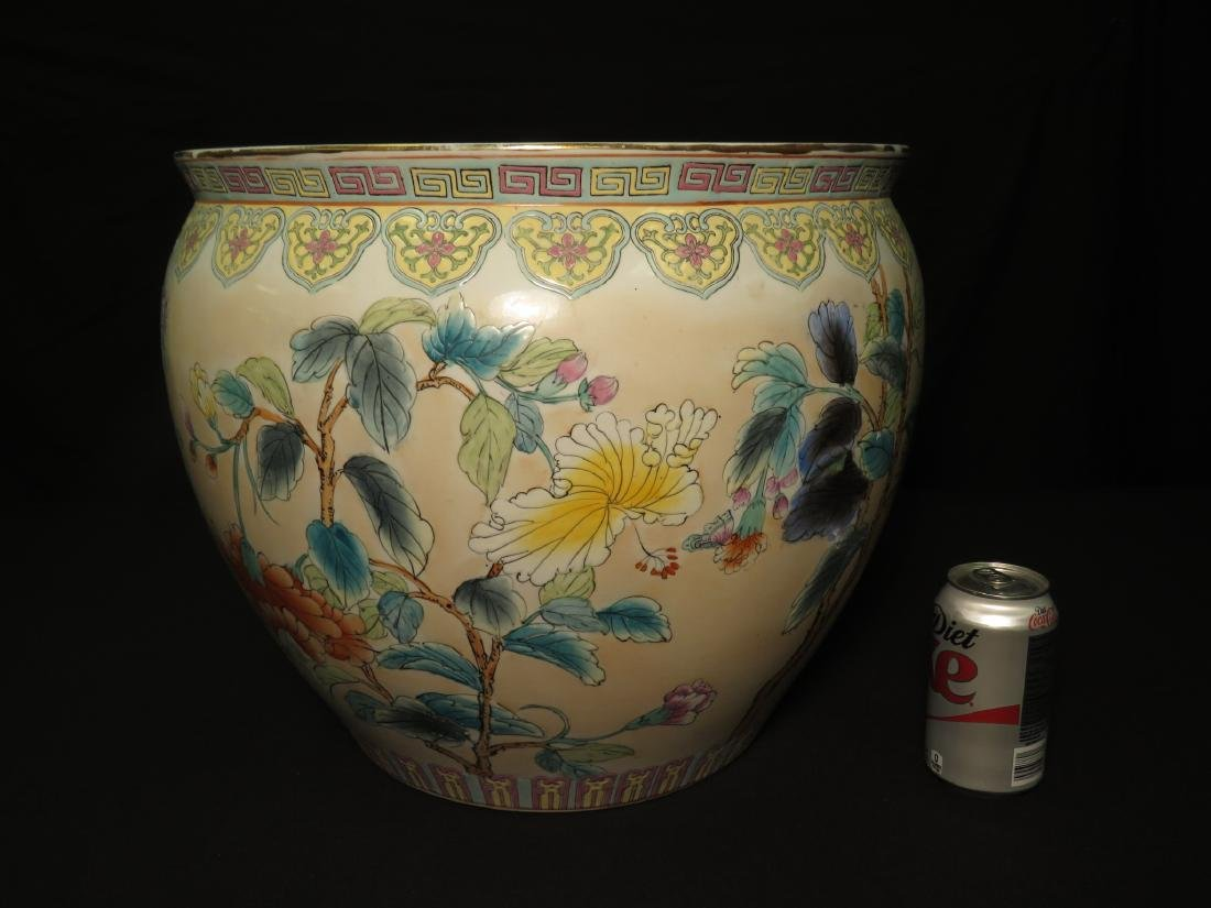 ASIAN FISHBOWL PLANTER IN THE FAMILLE ROSE STYLE - 10