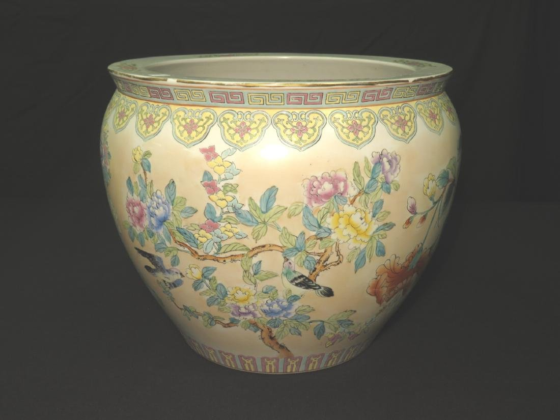 ASIAN FISHBOWL PLANTER IN THE FAMILLE ROSE STYLE