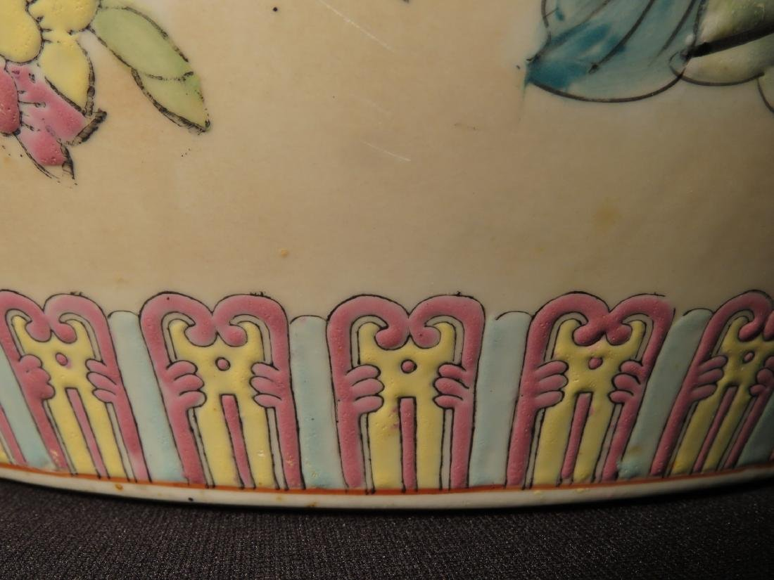 ASIAN FISHBOWL PLANTER IN THE FAMILLE ROSE STYLE - 8