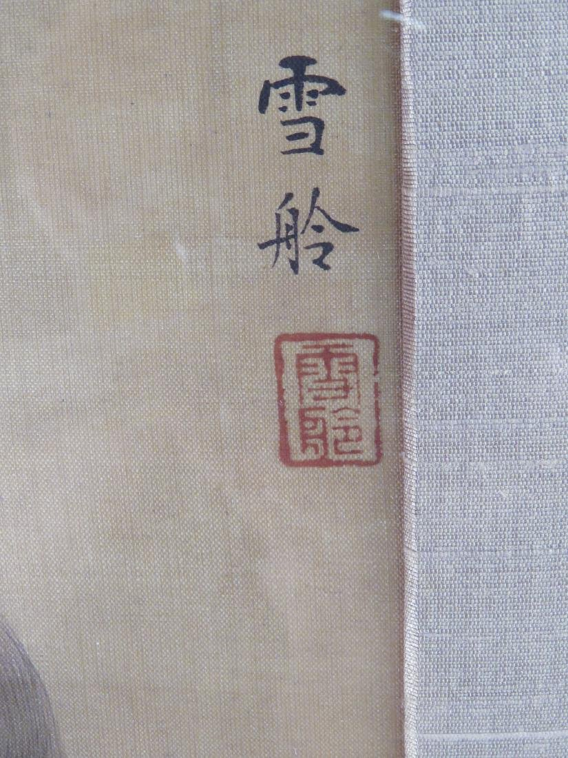 ANTIQUE CHINESE FRAMED PAINTING ON SILK - 2