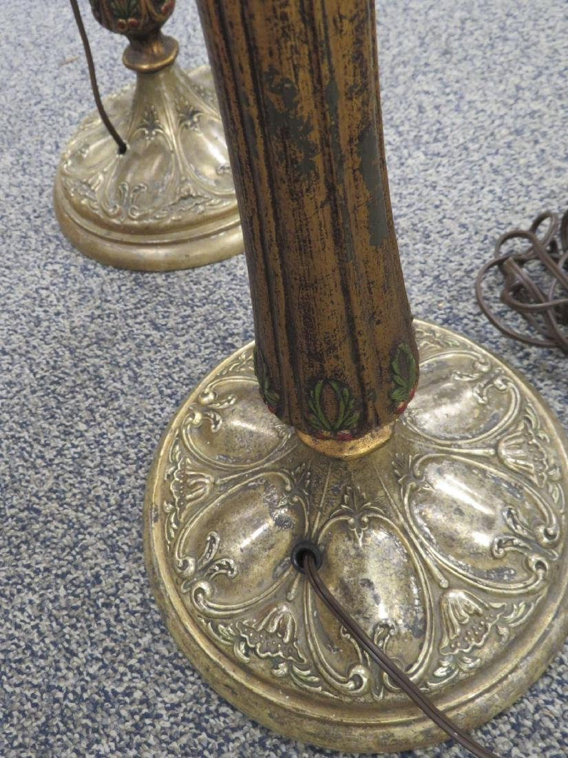 GOTHIC OR SPANISH REVIVAL TORCHIERE FLOOR LAMPS - 4