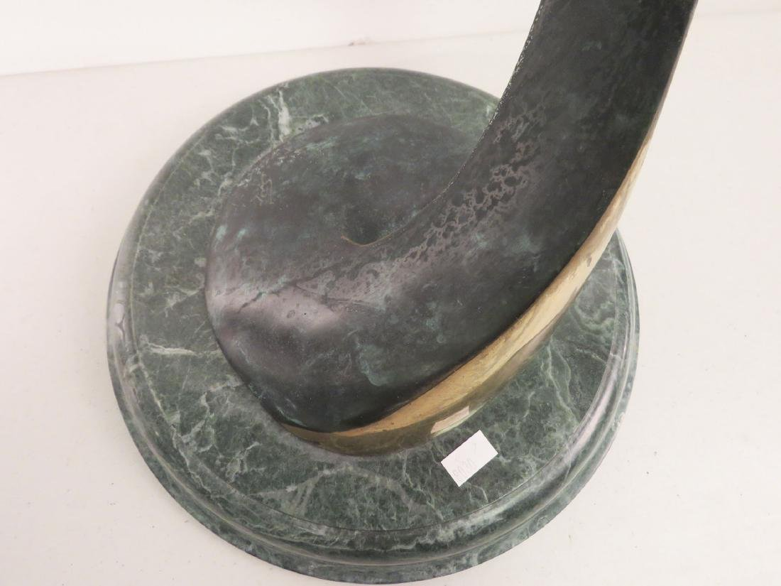 BRONZE SCULPTURE OF A LEAPINg DOLPHIN - 3