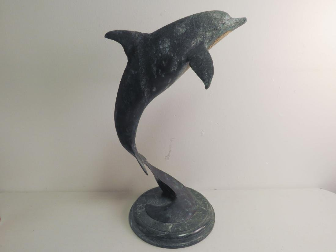 BRONZE SCULPTURE OF A LEAPINg DOLPHIN - 5