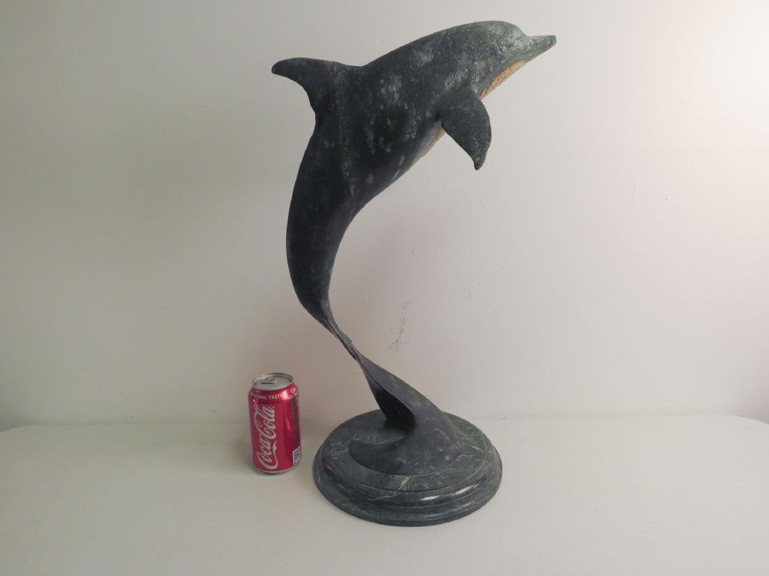 BRONZE SCULPTURE OF A LEAPINg DOLPHIN - 8