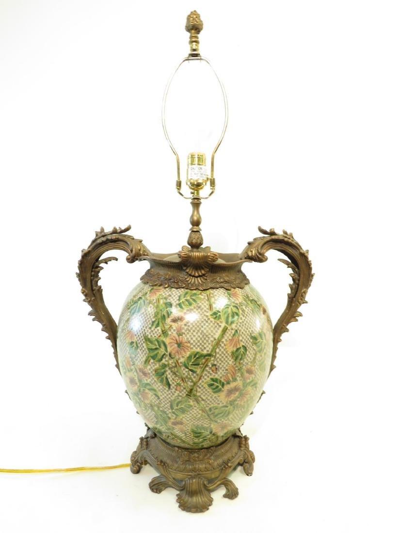 CASTILIAN METAL MOUNTED FLORAL LAMP