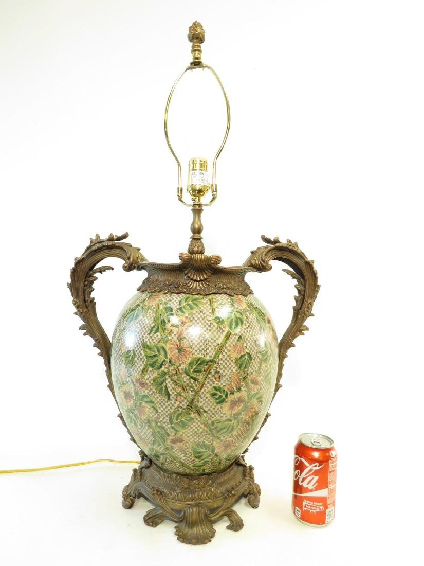 CASTILIAN METAL MOUNTED FLORAL LAMP - 5