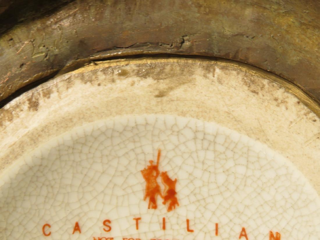 CASTILIAN METAL MOUNTED FLORAL LAMP - 7