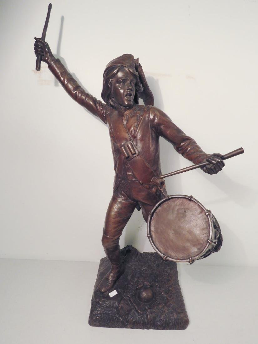 FAGEL Léon (1851-1913) BRONZE OF A DRUMMER BOY