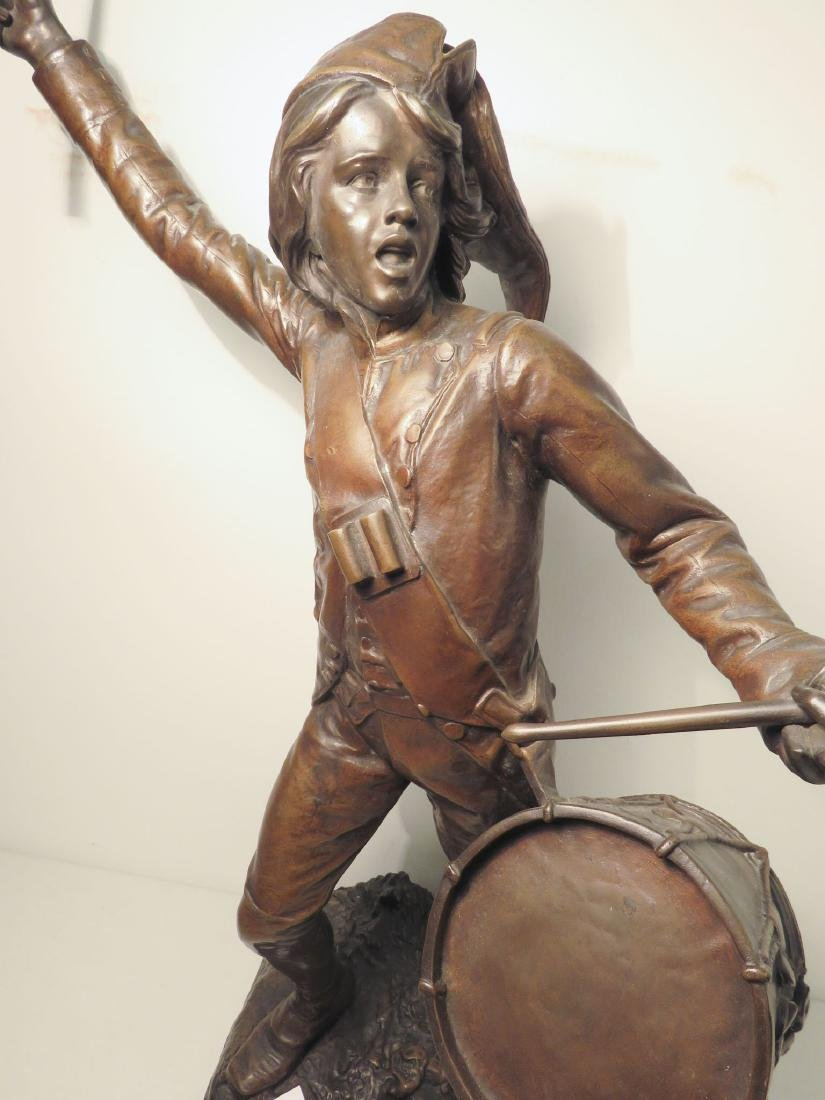 FAGEL Léon (1851-1913) BRONZE OF A DRUMMER BOY - 3