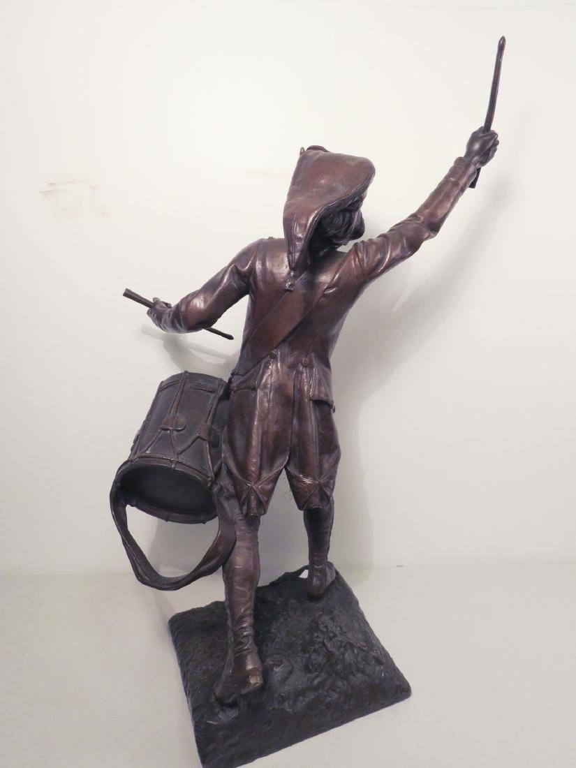 FAGEL Léon (1851-1913) BRONZE OF A DRUMMER BOY - 8