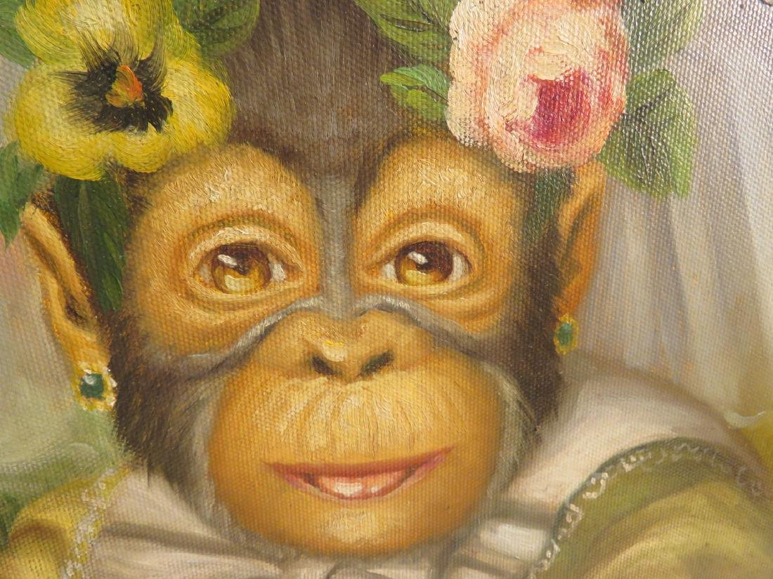 OIL PAINTING: PORTRAIT OF A MONKEY BRIDE - 3