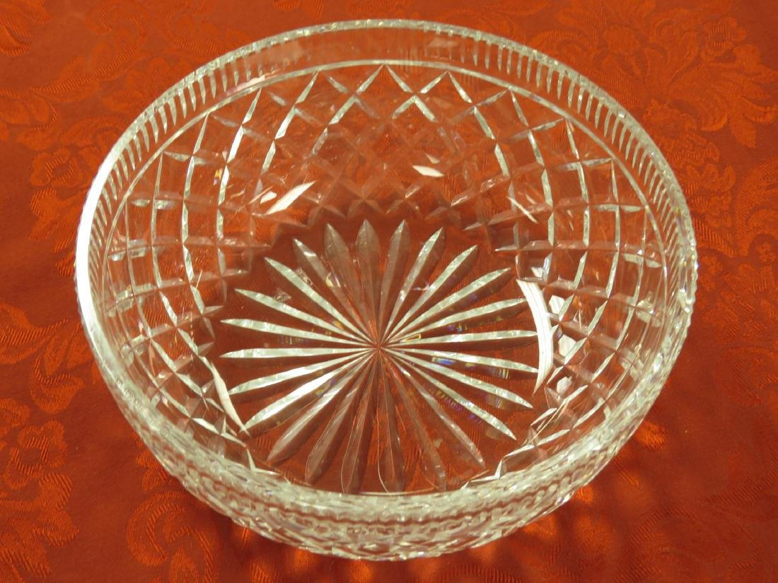 LARGE WATERFORD CRYSTAL CENTER BOWL - 2