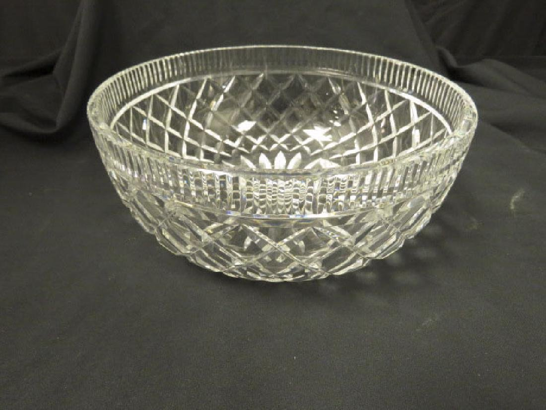 LARGE WATERFORD CRYSTAL CENTER BOWL - 3