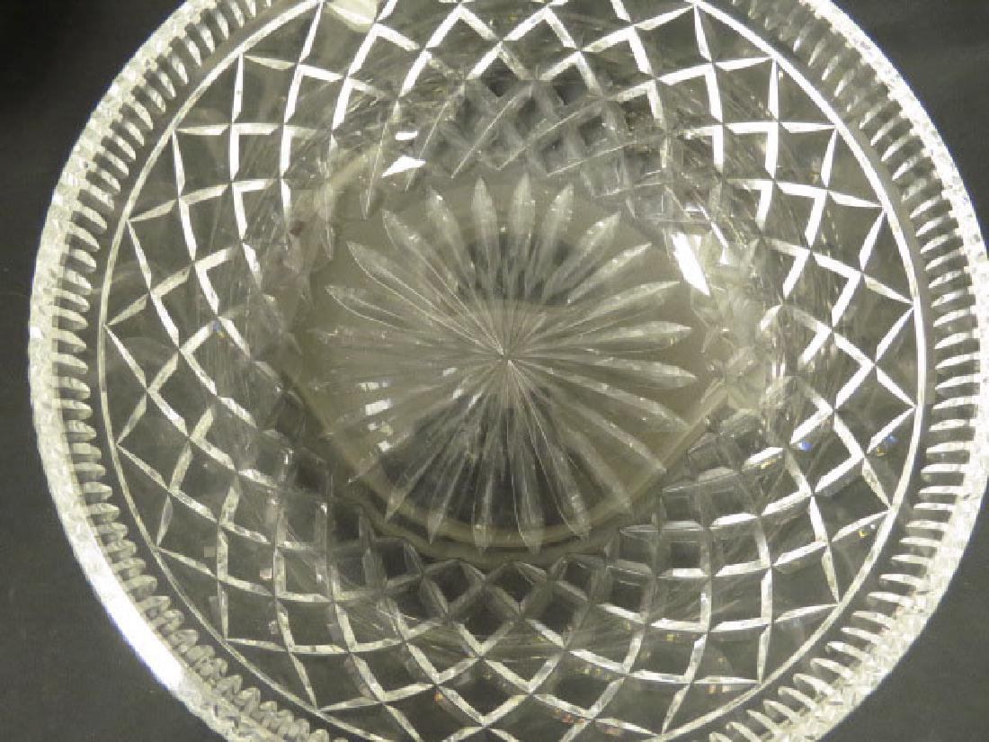 LARGE WATERFORD CRYSTAL CENTER BOWL - 4