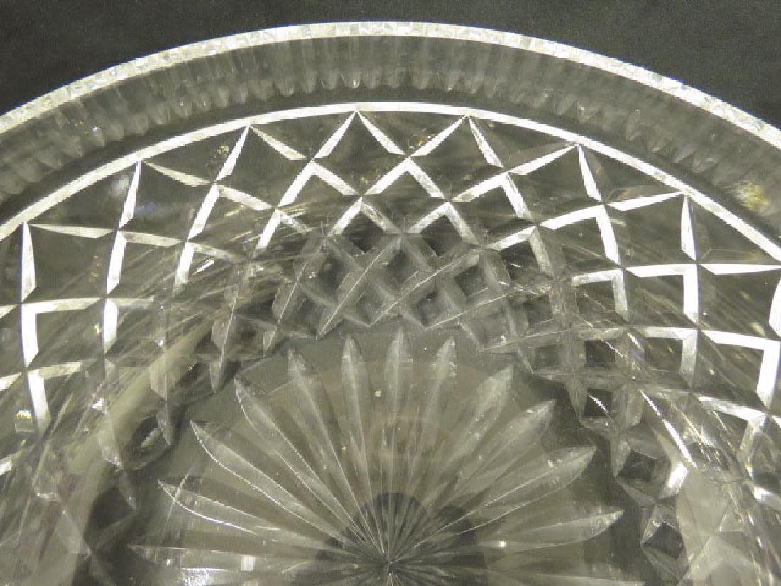 LARGE WATERFORD CRYSTAL CENTER BOWL - 5