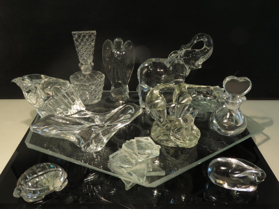 ASSORTED CRYSTAL: BACCARAT, ORREFORS, ETC. 10 PCS