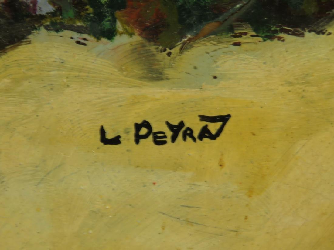 VINTAGE LOUIS PEYRAT OIL ON TIN PAINTING - 5