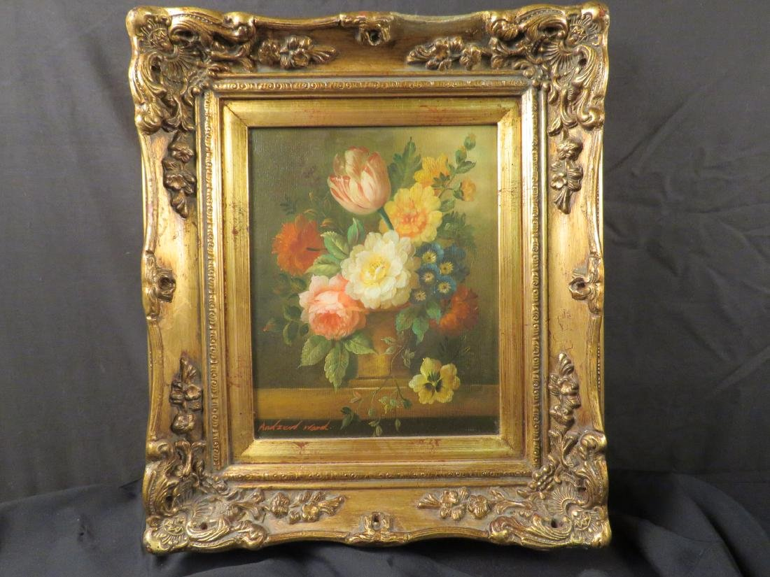 SMALL DUTCH STYLE FLORAL STILL LIFE PAINTING