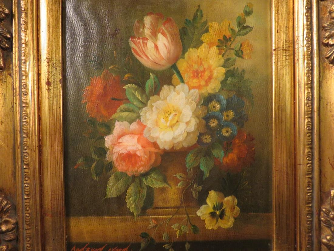 SMALL DUTCH STYLE FLORAL STILL LIFE PAINTING - 2