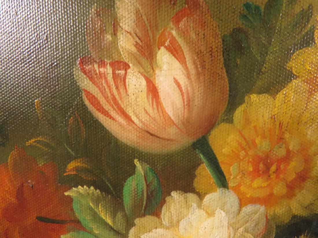 SMALL DUTCH STYLE FLORAL STILL LIFE PAINTING - 3