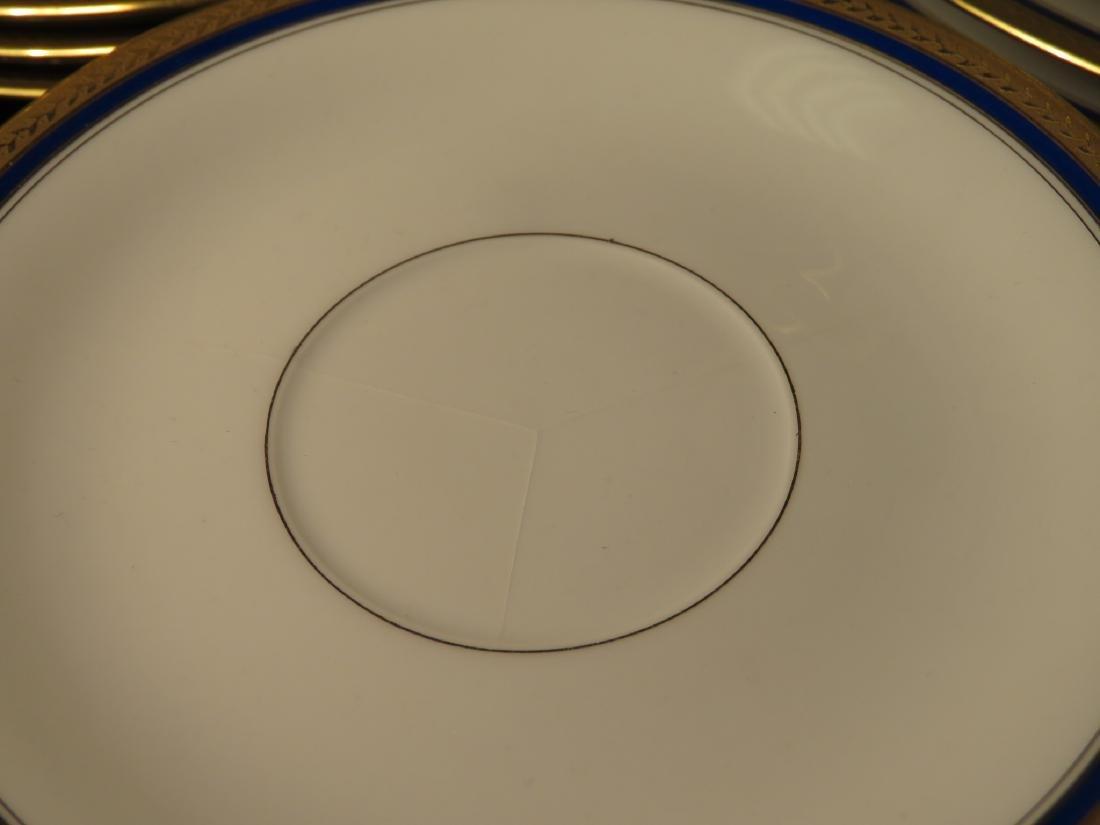 VIGNAUD LIMOGES COBALT BLUE & GOLD DINNERWARE 47P - 10