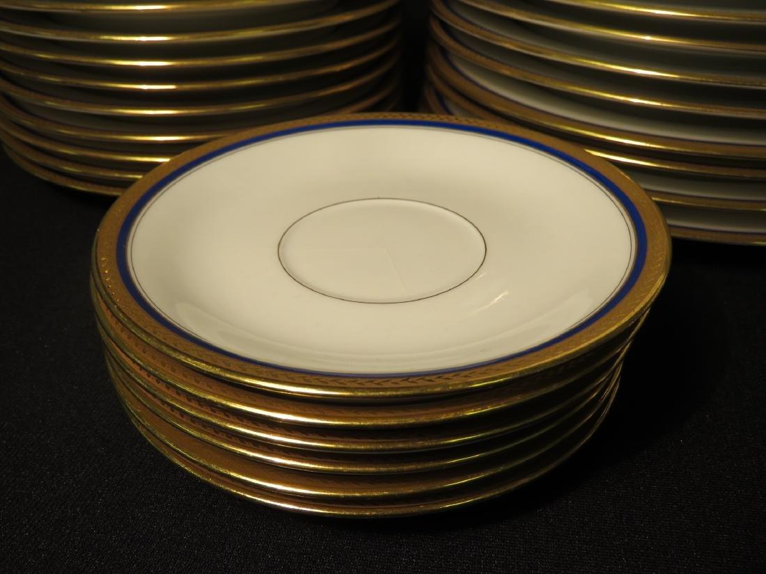 VIGNAUD LIMOGES COBALT BLUE & GOLD DINNERWARE 47P - 8