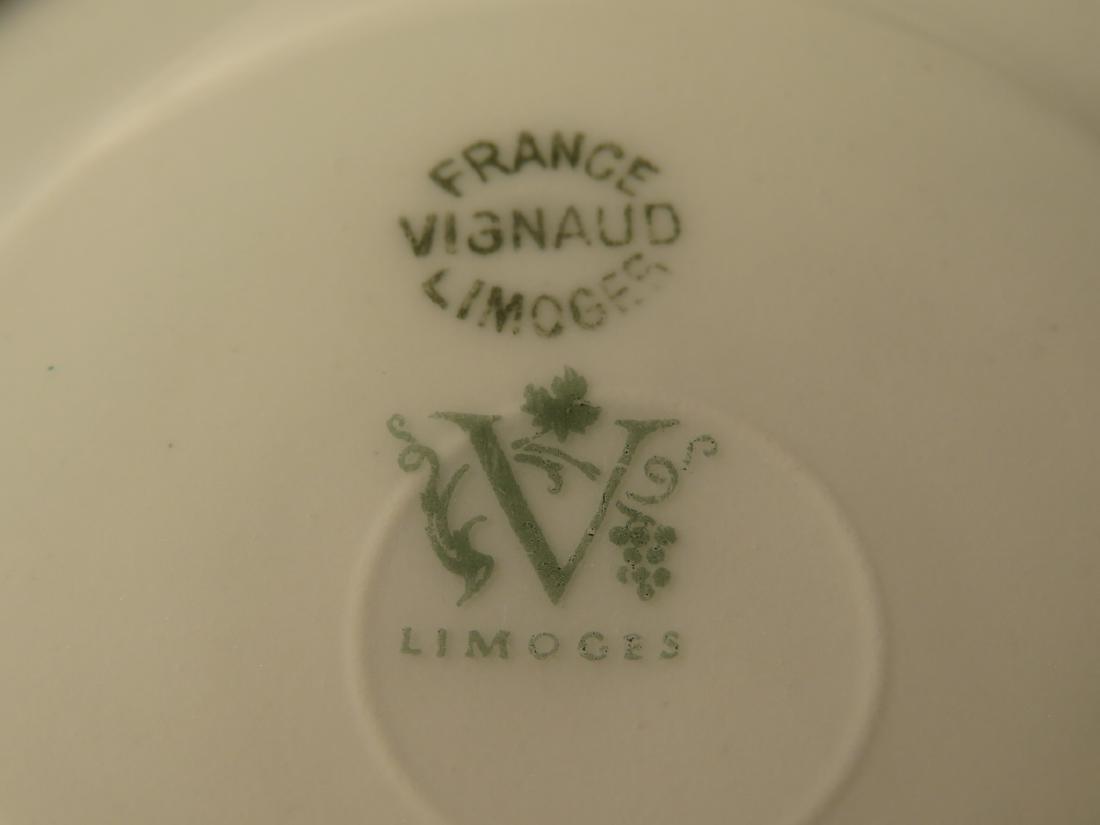 VIGNAUD LIMOGES COBALT BLUE & GOLD DINNERWARE 47P - 9