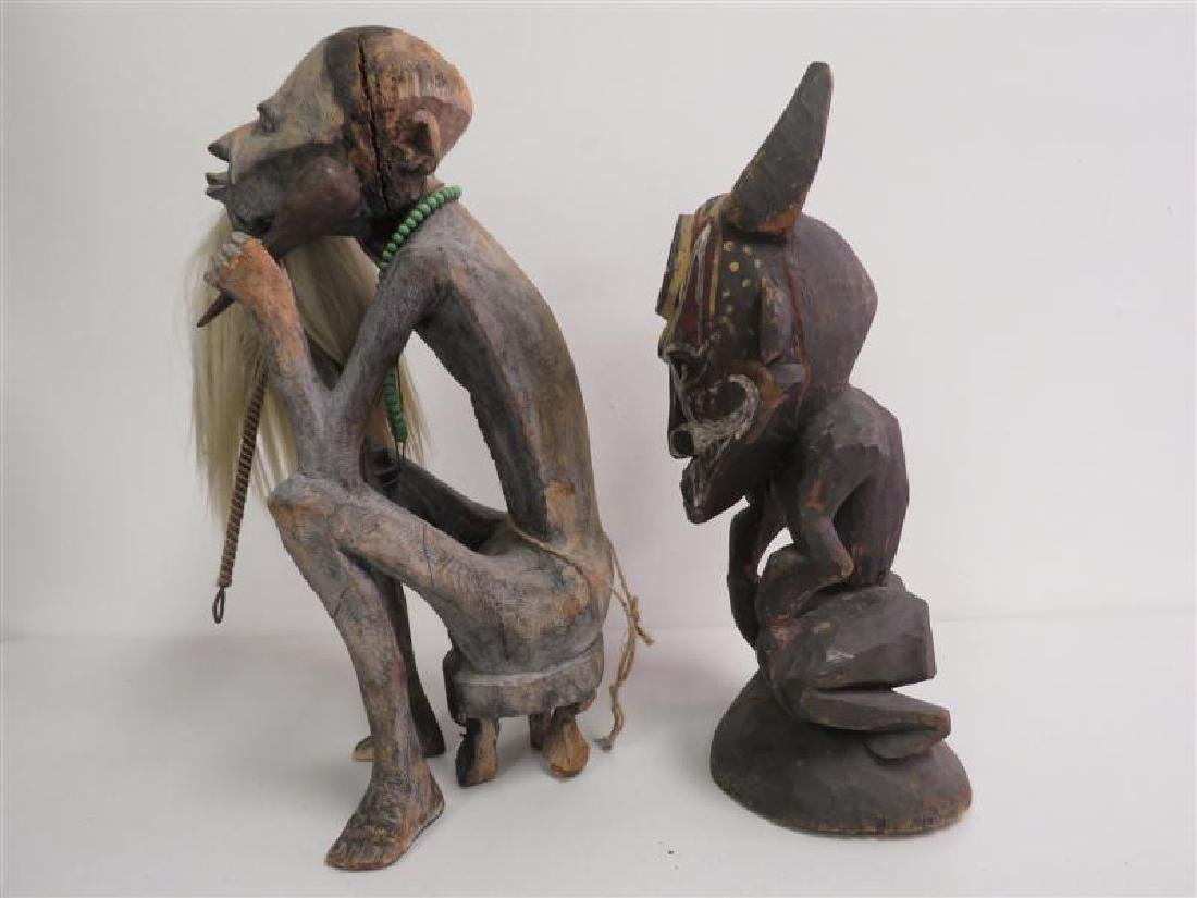 TWO AFRICAN TRIBAL ETHNIC WOODEN SCULPTURES - 2