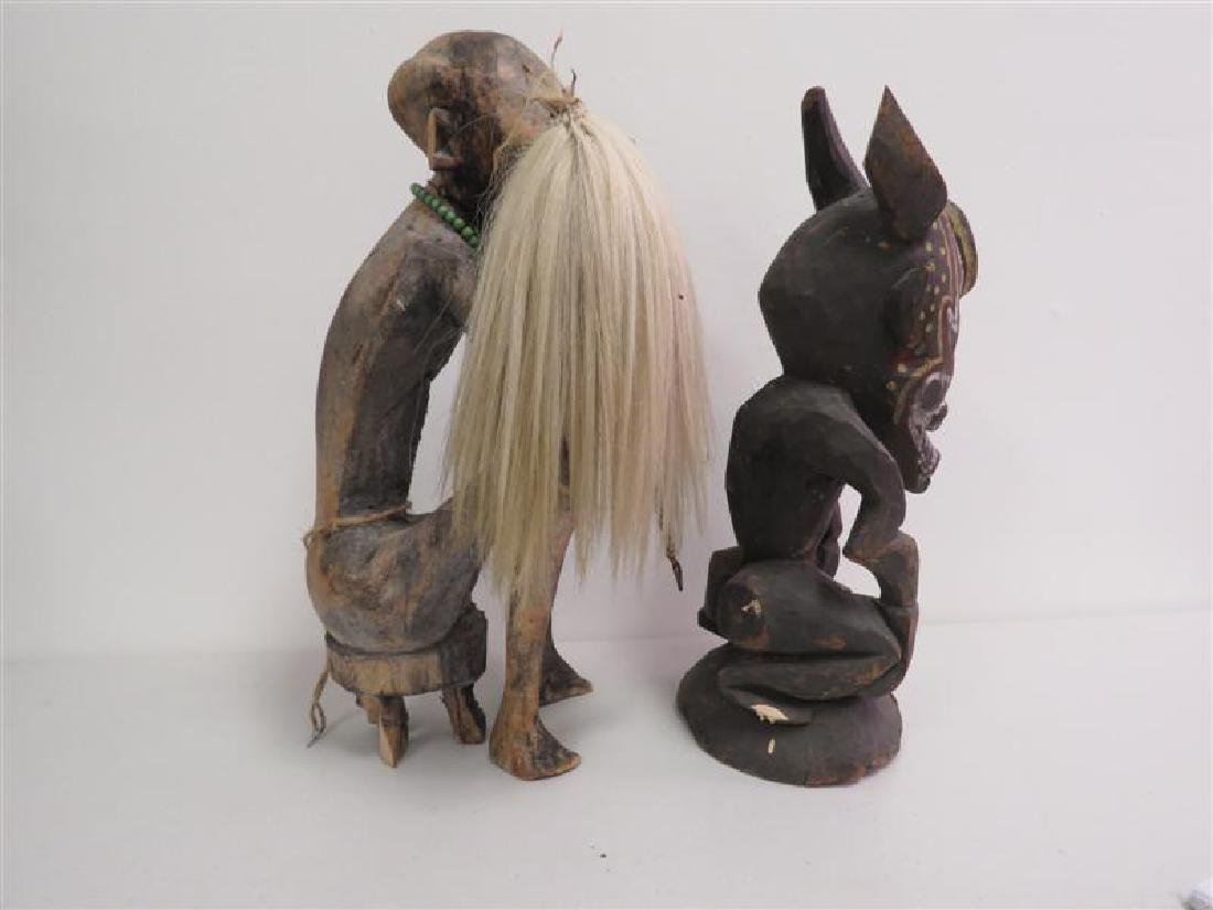 TWO AFRICAN TRIBAL ETHNIC WOODEN SCULPTURES - 4