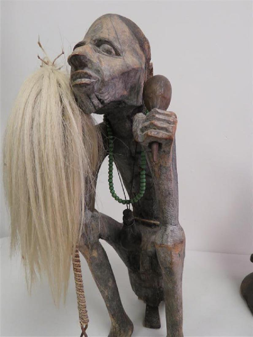 TWO AFRICAN TRIBAL ETHNIC WOODEN SCULPTURES - 5